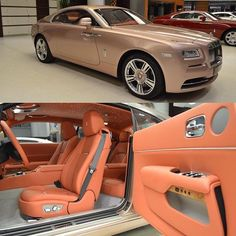 Rose Gold Rolls Royce (Dream car when older) Audi, Porsche, Bmw, Bugatti, Maserati, Ferrari F40, Lamborghini Gallardo, Rolls Royce Wraith, Rolls Royce Cars