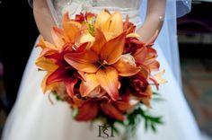 Vibrant Orange Bridal Bouquet