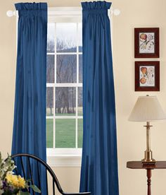 Solid lined window curtains by LaTeDaWindows on Etsy