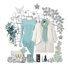 """white light blue and green"" by ntina36 on Polyvore"