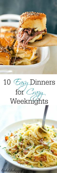Easy Dinners for Cra