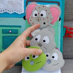 PATTERN & TUTORIAL 2 Quiet book pages Hospitalbook Elephant