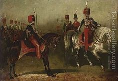 11th Hussars on parade David of York Dalby | Oil Painting Reproduction | 1st-Art-Gallery.com