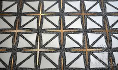 Black, Gold and White flooring pattern