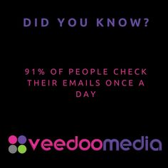 Did You Know? 🤔💬💡 . 91% of people check their emails once a day . 🥇🏆 Digital Marketing Agency Helping Small Businesses Grow Online, Innovate & Transform . 🎯 Digital Marketing 🧩 Consultancy 🛒 eCommerce 🖥 Web Design . 📈 Work With Us to Grow Your Business Online and Get Ahead of Your Competitors . 🔗 www.veedoomedia.com . Follow Us 👉 @veedoomedia 👈 to Get More Valuable Insights into Digital Marketing . . . . . #sem #digitalmarketing #onlinemarketing #internetmarketing #business… Inbound Marketing, Marketing Tools, Email Marketing, Internet Marketing, Digital Marketing, Small Business Marketing, Online Business, Ecommerce Web Design, Mobile Marketing