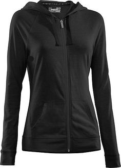 Womens Under Armour Charged Cotton Undeniable Full Zip Hoody Black/Charcoal