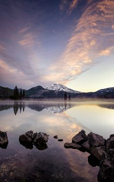 Sparks Lake Skies ~ taken near Bend, Oregon