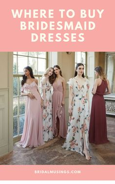 Shop the bridesmaid dresses your besties actually want to wear in our best bridal party stores guide on Bridal Musings #bridesmaids #bridesmaiddresses #bridalparty #jennyyoo