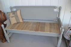 The 1829 Farmhouse | headboard bench w/pallet seat