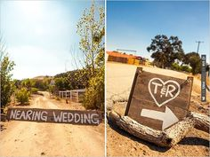 wooden wedding signs | VIA #WEDDINGPINS.NET