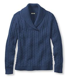 #LLBean: Double L Sweater, Shawl Collar Pullover