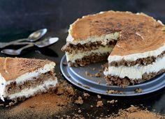 Klasický italský hořkosladký dezert v úpravě bez mouky a hromady cukru. Jako základ nejsou použité typické cukrářské piškoty, ale oříšková drť s kávou. Healthy Cake, Healthy Recipes, Whole 30, Tiramisu, Lchf, Paleo, Low Carb, Gluten Free, Vegan