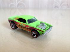 HOT WHEELS REDLINE ALL ORIGINAL EXTREMELY RARE 1974 ALTERNATE GREEN HEAVY CHEVY #HotWheels #Chevrolet