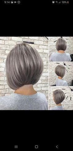 Long To Short Hair, Short Hair Cuts, Short Hair Styles, Gray Hair Growing Out, Grow Hair, Pretty Hairstyles, Bob Hairstyles, Haircuts For Straight Fine Hair, Grey Hair Care