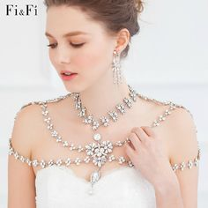 Wedding Diamant Shoulder Necklace Bridal Body Chain By Jimibridal Suzy Schettler Unique Jewelry