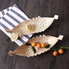 Bamboo Crafts, Leaf Crafts, Wood Crafts, Diy And Crafts, Bamboo Box, Bamboo Basket, Diy Crochet Basket, Bamboo Design, Bamboo Furniture