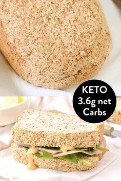 Keto Vegan, Vegan Keto Recipes, Ketogenic Recipes, Low Carb Recipes, Cooking Recipes, Ketogenic Diet, Egg Free Recipes, Best Keto Bread, Vegan Bread