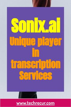 Sonix is one of the leading #cloud-basedvoicerecognition and #transcriptionplatform that provides utility to converts audio and video to text. Users have wide range of features to access including transcript timestamps, highlighting, and editing tools. Sonix provides users wide variety of choices like users can easily transcribe, manage, and search audio and video files. Transcription, Cloud Based, Choices, Audio, Range, Technology, Tools, Search, Tech