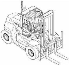 Hyster Forklift F005 Series: H3.50XL, H4.00XL, H4.00XLS-6