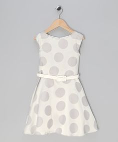 Retro-inspired toddler polka dot dress