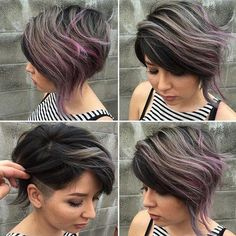 Short+Asymmetrical+Balayage+Hairstyle+