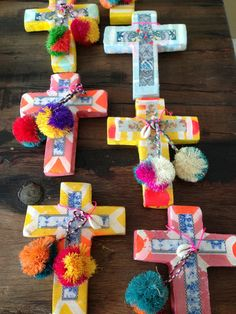 Shiva Designs is an inspiring place to shop for beautiful, unique, design led homewares and gifts, sourced from all over the world. Mosaic Crosses, Wooden Crosses, Crosses Decor, Wall Crosses, Crafts For Kids, Arts And Crafts, Diy Crafts, Mexican Colors, Cross Art