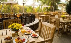 Enjoy a delicious breakfast at Terrace Café before you set off on your day of Napa adventures!
