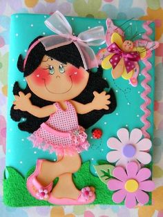 muñeca de foami para baby shower