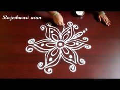 simple easy rangoli designs with 4x4 dots || small kolam for beginners || latest dots muggulu - YouTube