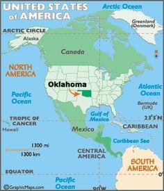Map Of Oklahoma State Symbols
