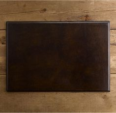 For aaron's office. RH's Artisan Leather Desk Mat Chocolate:The natural richness of vegetable-tanned leather promotes our handcrafted desk accessories to executive essentials. Desk Mat, Desk Accessories, Nutrition Tips, Vegetable Tanned Leather, Artisan, Chocolate, Drink, Home Decor, Essentials