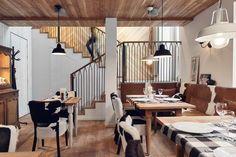 Un restaurant à la déco champêtre chic