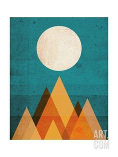 Moon on Sahara Giclee Print by Budi Kwan at Art.com