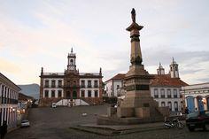 Tiradentes Square, in Ouro Preto, is named after Tiradentes, famous Brazilian heroe. Ouro Preto, Minas Gerais, #Brazil