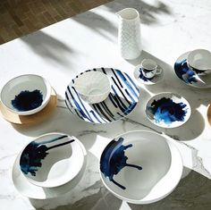 KEIU by Habitat Blue Hour, Plates, Dining, Volumes, Tableware, Kitchen, Behance, Gallery, Porcelain Ceramics