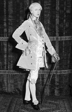 Cecil Beaton as Gainsborough for the Pageant of Hyde Park, June 1928.