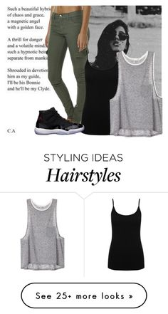 """""""Black hair"""" by aquata on Polyvore featuring INDIE HAIR, Rusty, M&Co and Freaker"""