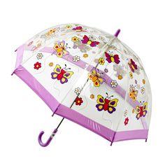 Childrens PVC Umbrella - Butterflies