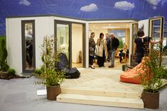 This spacious, light garden building featured at Grand Designs Live London. This room was built with a large selection of windows and doors to give you that outdoor feeling. Grand Designs Live, Garden Buildings, List, Windows And Doors, Oversized Mirror, Gardens, London, My Favorite Things, Room
