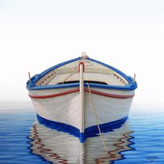Greek Boat Painting  - Greek Boat Fine Art Print