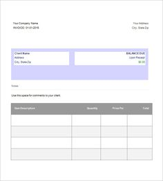 Invoice Template Free Download Word Brilliant Free Printable Invoice Templates In Pdf  Free Printable Invoice .