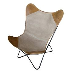 FABRIC/LEATHER CHAIR IN BEIGE COLOR 75X87X86