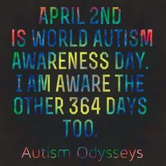 April is world autism awareness day. Autism Awareness Quotes, World Autism Awareness Day, Autism Quotes, Autism Activities, Autism Resources, World Autism Day, Autism Speaks, Autistic Children, Autism Spectrum Disorder