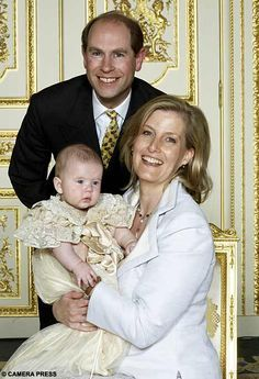 Prince Edward, Earl of Wessex and Sophie, Countess of Wessex with baby James, Viscount Severn