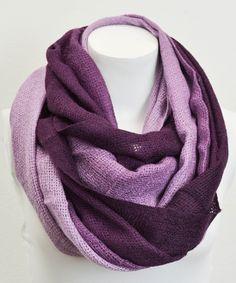 Purple Ombré Infinity Scarf - So Gorgeous
