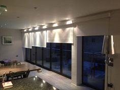 electric blinds - need this for two story windows in living room and all windowed workout room!
