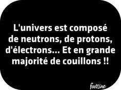 L'univers est composé de neutrons, de protons