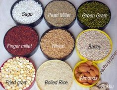 ingredients for multigrain porridge Millet Recipes, Porridge Recipes, Healthy Meals For Kids, Kids Meals, Healthy Lunches, Healthy Drinks, Healthy Foods, Easy Cooking, Cooking Recipes