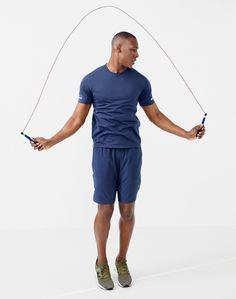 """New Balance for J.Crew men's cooling workout T-shirt, 7"""" short, and New Balance 247 Sport sneakers in olive."""