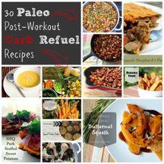 30 #Paleo Post-Workout Carb Refuel Recipes. If you're a Paleo athlete, you need to replace carbs post-workout for good performance in the long run. #workout